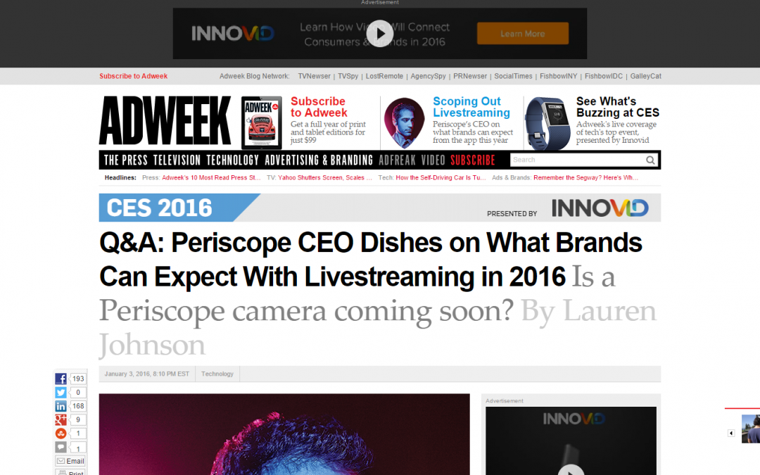 Periscope CEO – the future of live streaming?